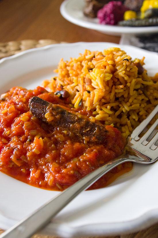 Tomatencurry mit Reis